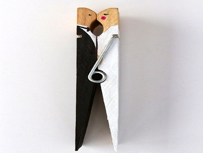simplest diy clothespin wedding cake toppers wedding clan