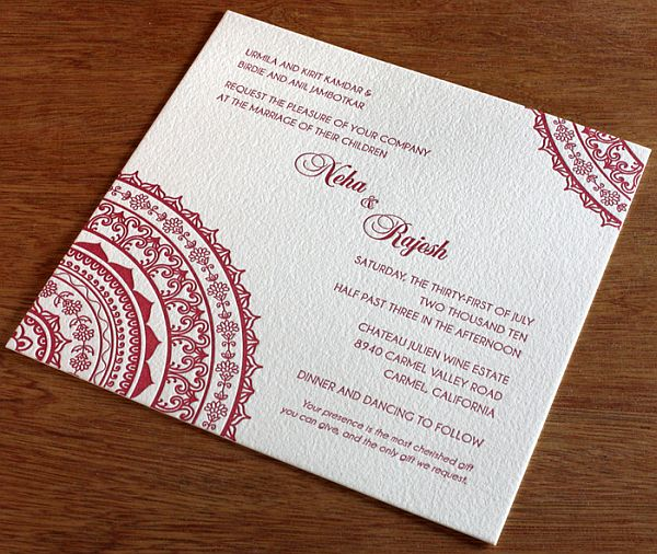 Best Wedding Invitations Cards: Best Indian Wedding Invitations Card Ideas