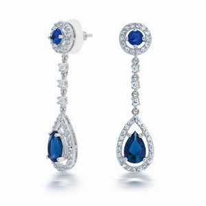 silver-plated-cz-blue-sapphire-color-chandelier-earrings-double