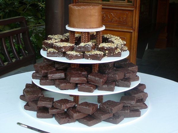 Brownie Wedding cake