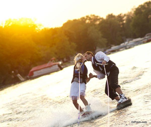 Water-Skiing WEDDING