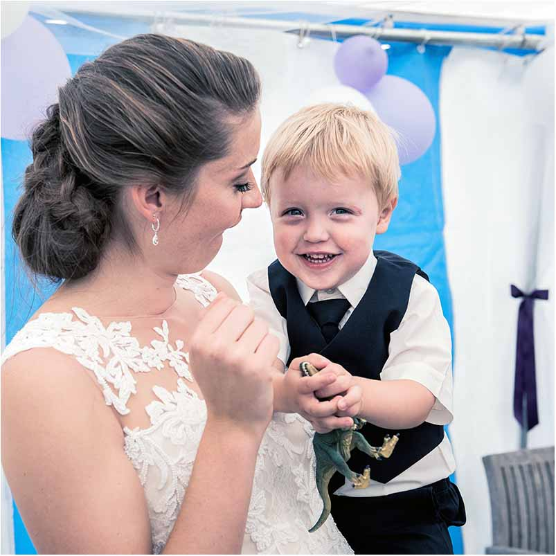 bryllup og boern