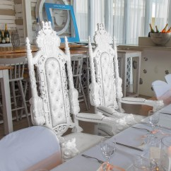 King And Queen Chairs For Rent Wingback Rocking Chair Oceanview Wedding Hire Cyprus