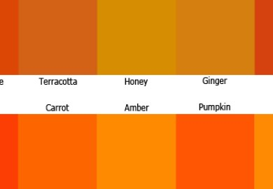 Autumn Wedding Color Scheme