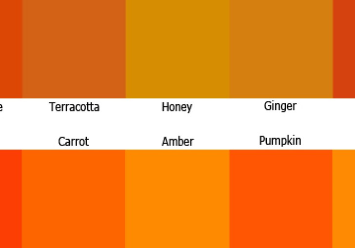 Autumn Wedding Color Scheme