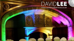 Wedding venue Uplighting