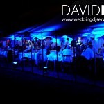 Blue Uplighting in a Marquee