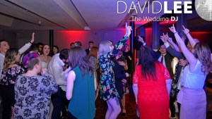 Merchant Room Wedding DJ with guests dancing