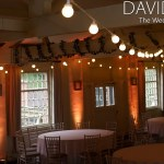 Warm Colour uplighting and festoons