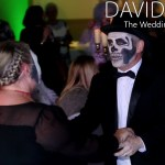 Skeleton Dancing at Halloween Wedding