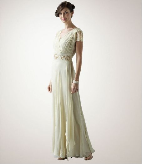 1940s glam on the cheap scala wedding gown from dillards for Cheap vintage style wedding dresses