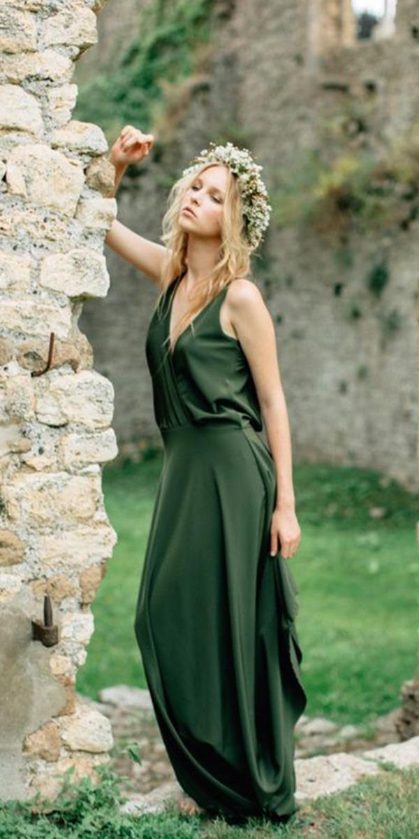 18 Green Wedding Dresses For NonTraditional Bride