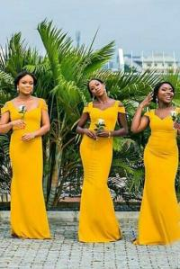 Mustard Yellow Bridesmaid Dresses_Bridesmaid Dresses_dressesss