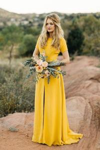 18 Yellow Bridesmaid Dresses For Bright Celebration ...