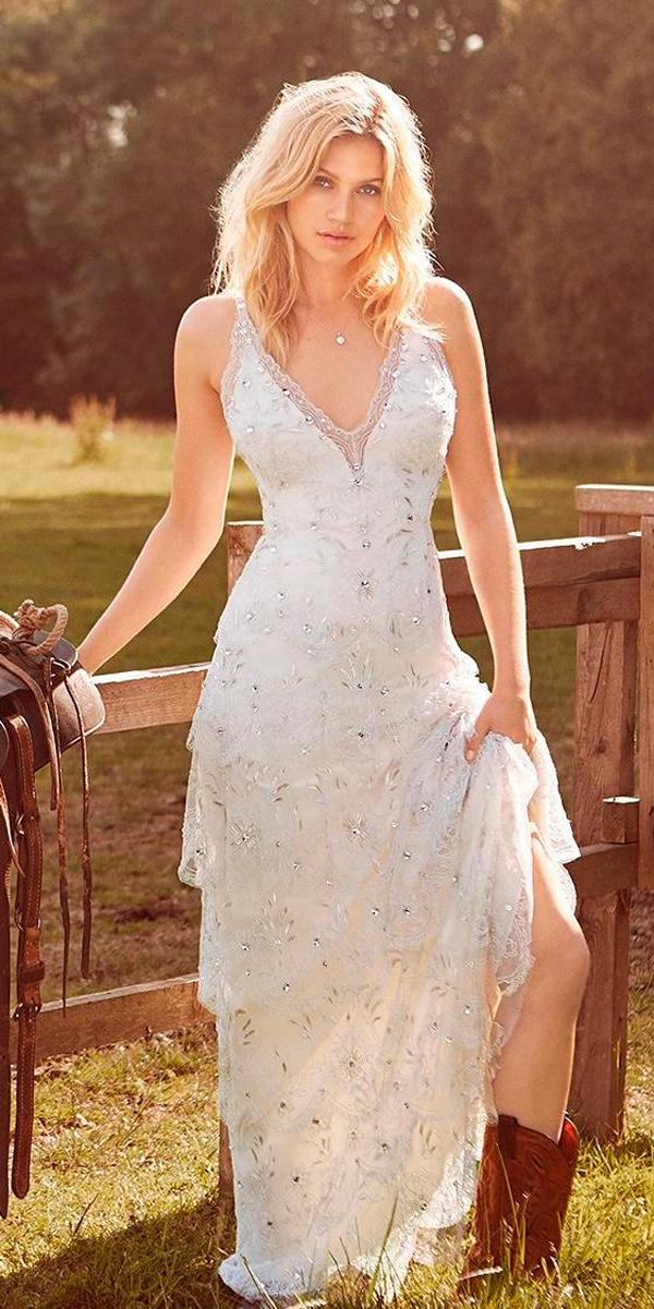 24 Rustic Wedding Dresses To Be A Charming Bride  Wedding
