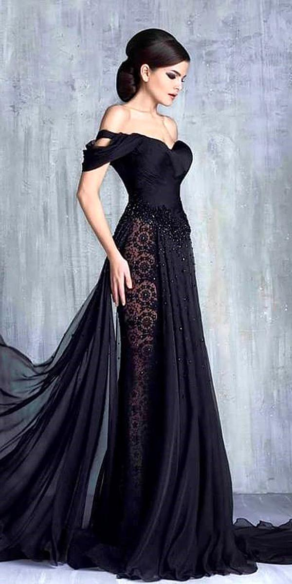 30 Beautiful Black Wedding Dresses That Will Strike Your