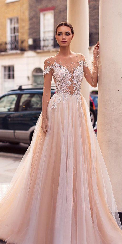 21 Illusion Long Sleeve Wedding Dresses Youll Like  Wedding Dresses Guide