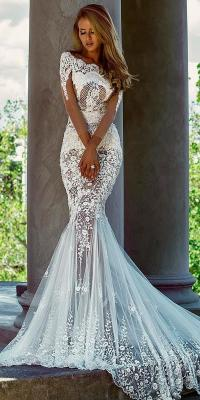 revealing-wedding-dresses-mermaid-lace-with-illusion-long ...