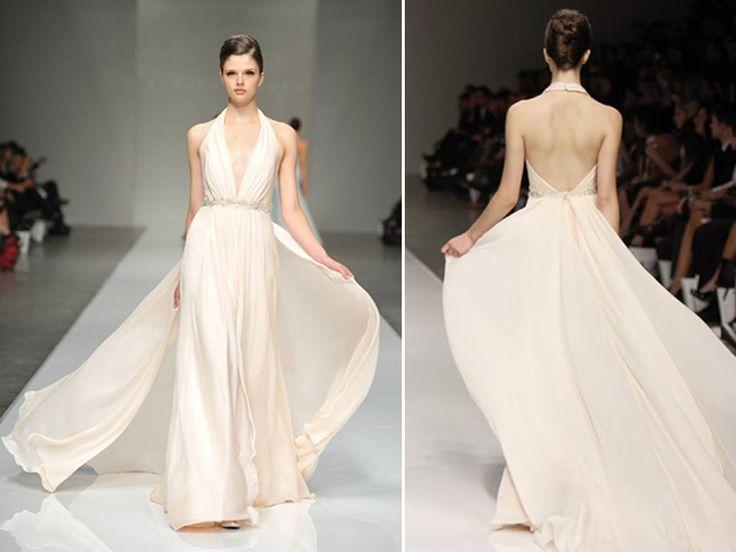 Halter Wedding Dresses Bring Sexy Backs