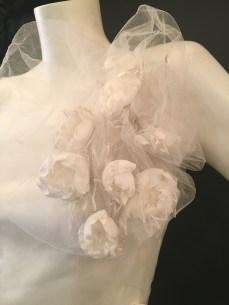 Flower shoulder dress by David Fielden. Good condition. Size 14.