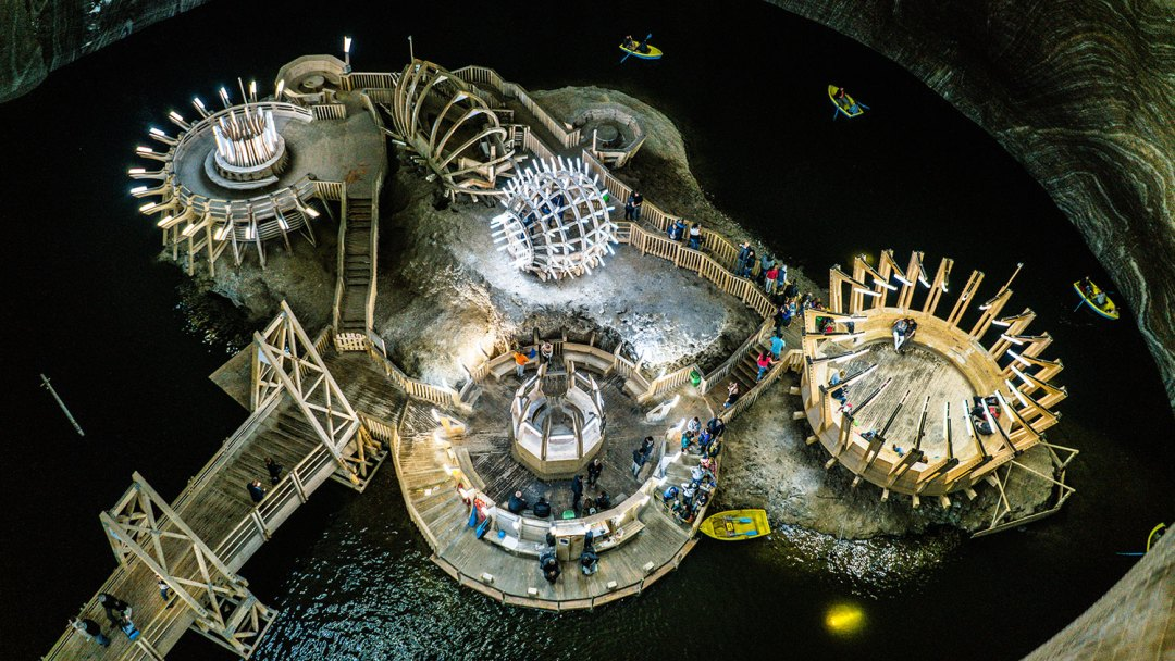 Honeymoon in Transylvania Turda Salt Mine Boats