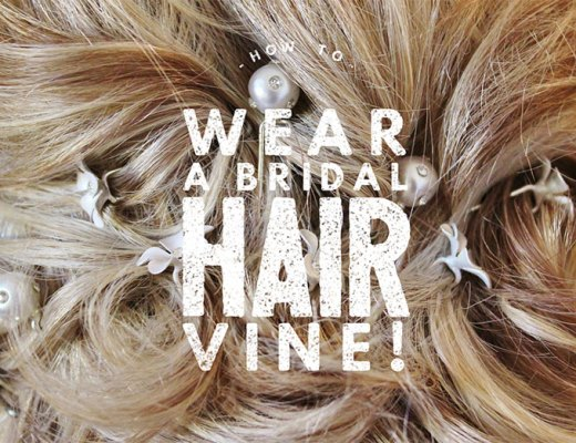 How To Wear A Bridal Hair Vine with Sarah Cammish from Elsa Rose Boutique