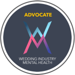 Wedding Industry Mental Health Official Advocate Badge