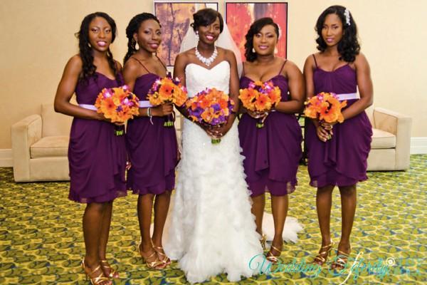 Purple Bridesmaids Dresses For Nigerian Weddings