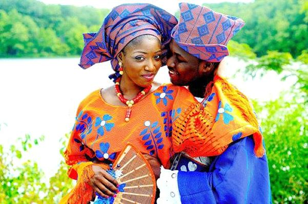 Nigerian Traditional Wedding Colour Scheme: BLUE