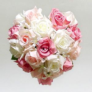 造花 花 ハート型ブーケ 結婚