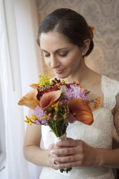Fall colors Bridal bouquet