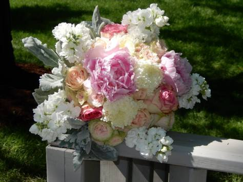 White and pink Bridal Bouquet