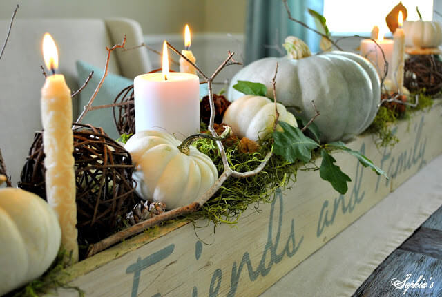 Pumpkins And Apples: Simple Wedding Centerpieces