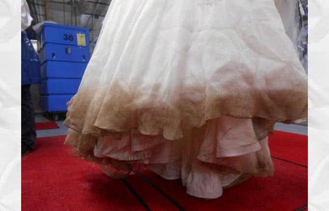 Before & After Wedding Dress Restoration Gallery
