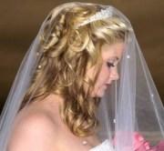 big curly wedding hairstyle