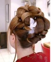 big bridal hairstyle updo