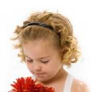 cute curly and simple flower girl