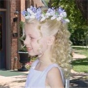 halo flower girl hairstyle