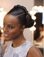 braided updo black women hairstyle