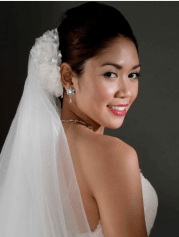 elegant asian wedding updo