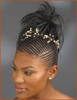 black wedding hairstyle