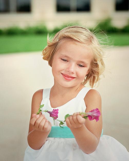 Short Hair Updo For Flower GirlsPNG