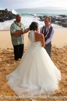 Couple-with-wayne Affordable Barefoot Maui Wedding