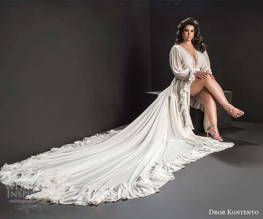 Dror Kontento 2019 Plus Size Wedding Dresses