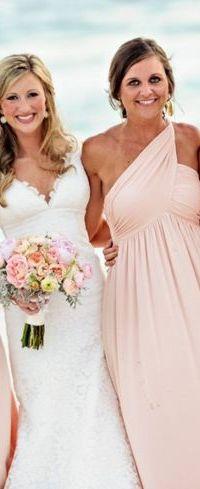 Powder pink bridesmaid dresses  Weddinginspirationsme