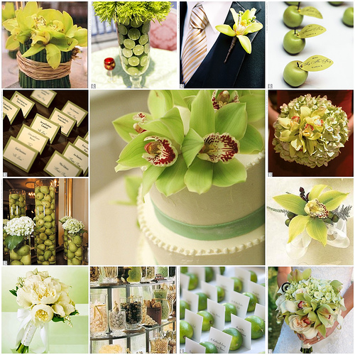 Crisp And Bright Lime Green White Wedding Ideas