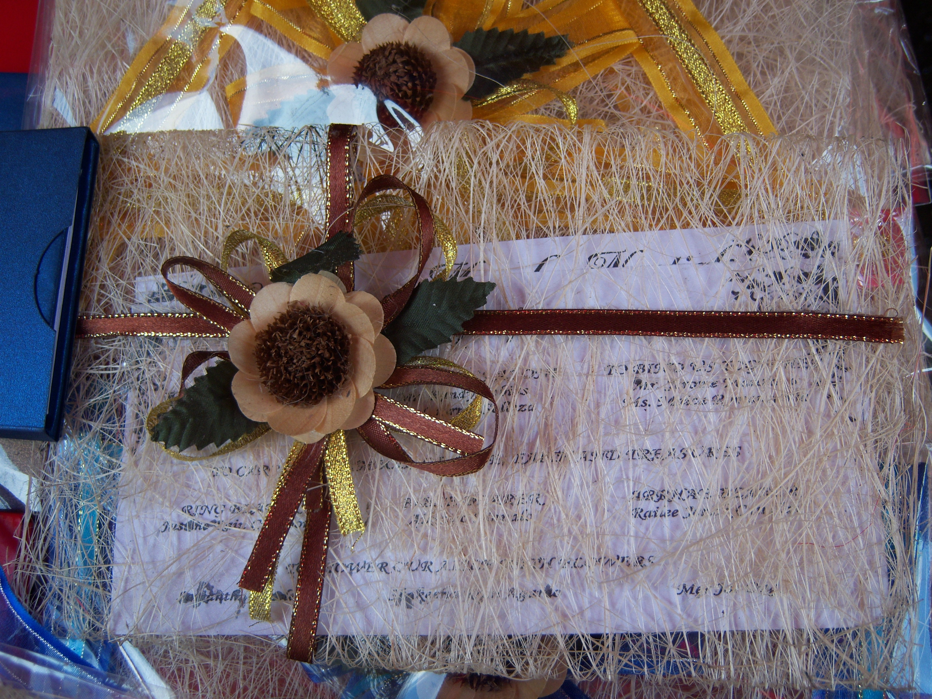 Wedding Invites With Indigenous Materials Craftandarts's