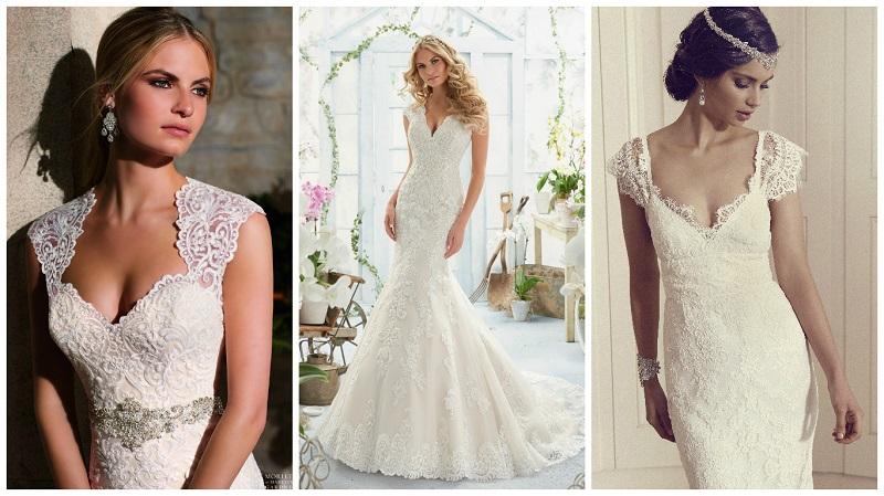 Wedding Dresses Queen Anne Neckline