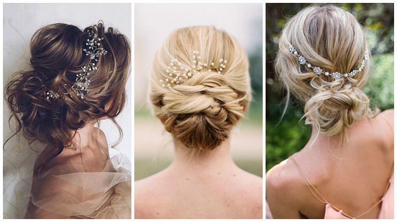 glamourous up do wedding hair styles for brides 2