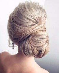 Wedding Hairstyle For Long Hair : Side chignon bun updo ...